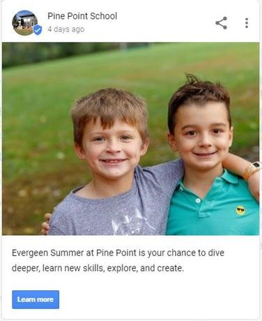 Pine Point Evergreen - Google My Business Post - Boys