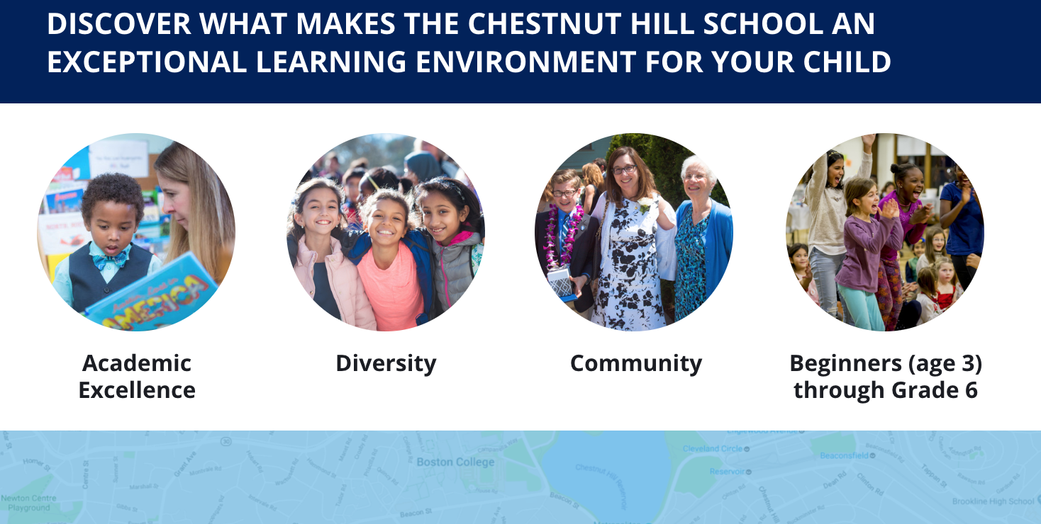 The Chestnut Hill School landing page
